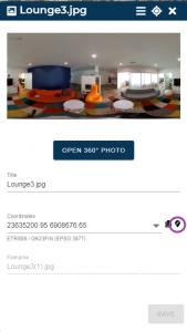 open 360 photo in GISGRO