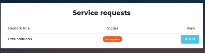 service request list